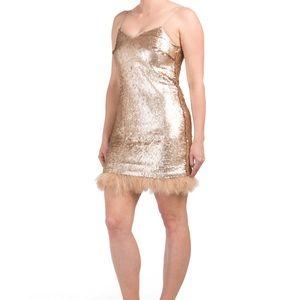 NEW // CeCe gold sequin dress - NWT!